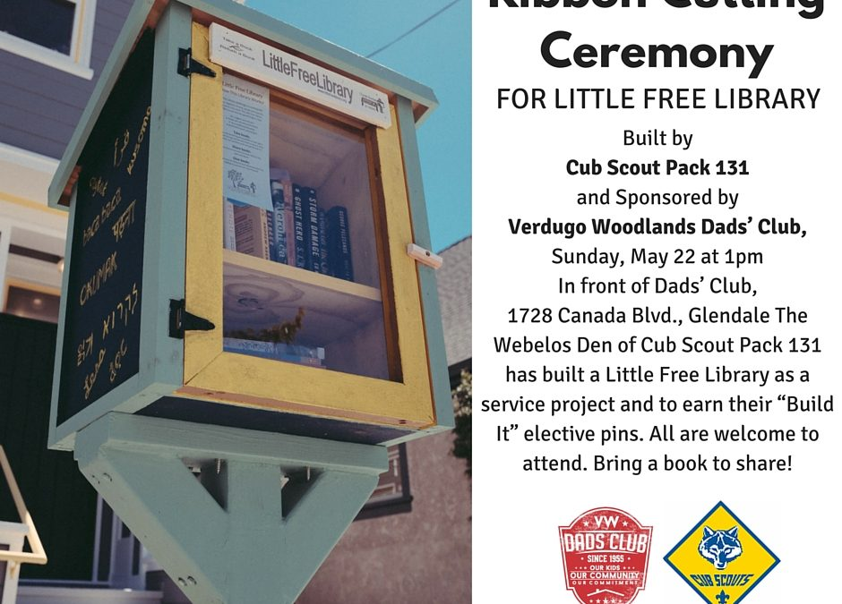 Ribbon Cutting Ceremony  For Little Free Library!