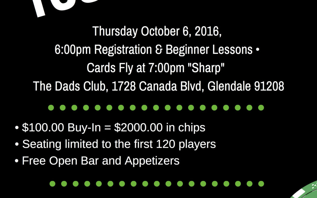 Dads' Club Fundraiser Poker Tournament